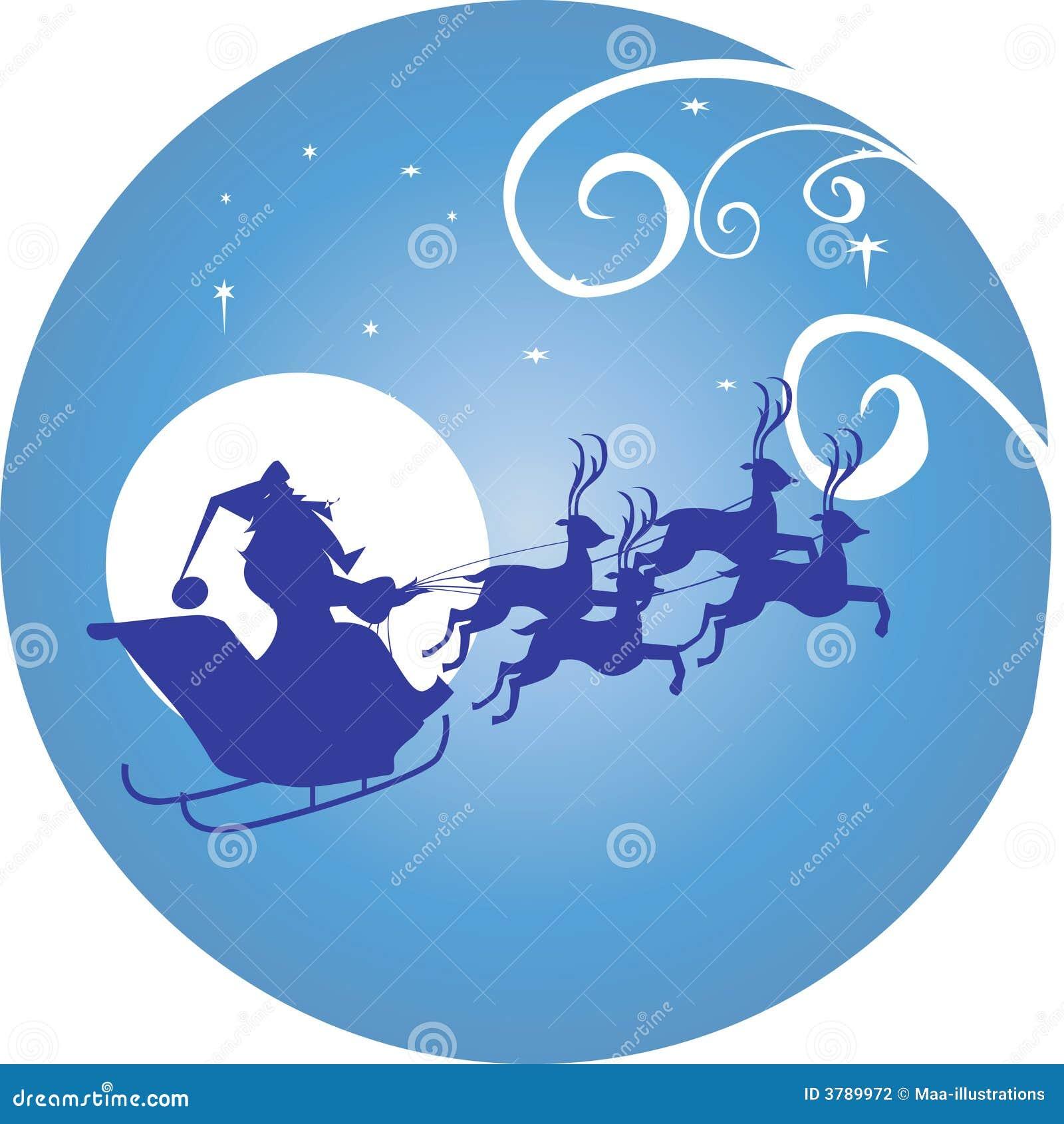 Moon and Santa clause