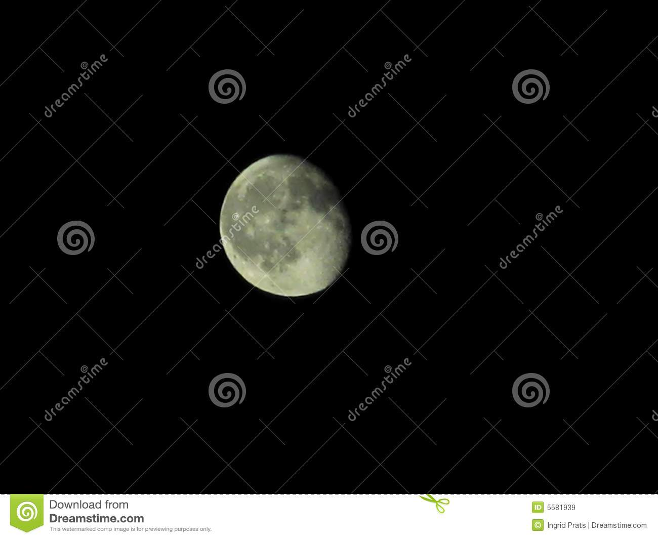 Moon in sky at night