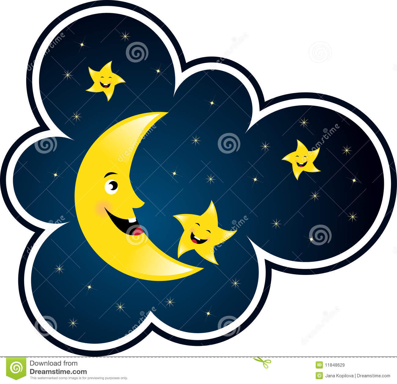 Moon And Star Royalty Free Stock Images - Image: 11848629