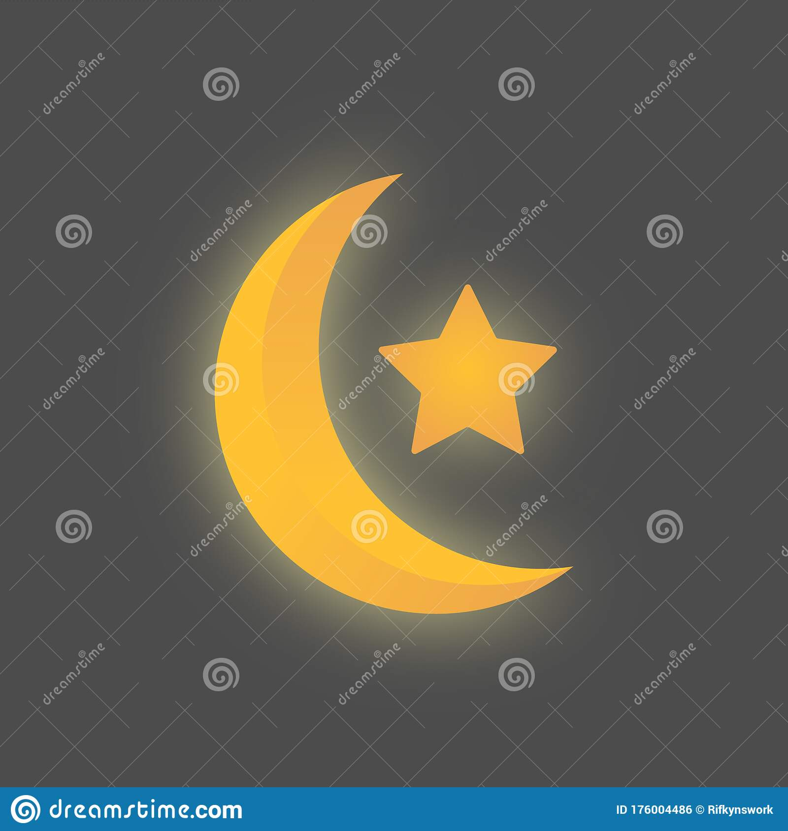 Silhouette Mosque On Starry Night Sky With Blue Glow. Shining.. Royalty  Free Cliparts, Vectors, And Stock Illustration. Image 126032936.