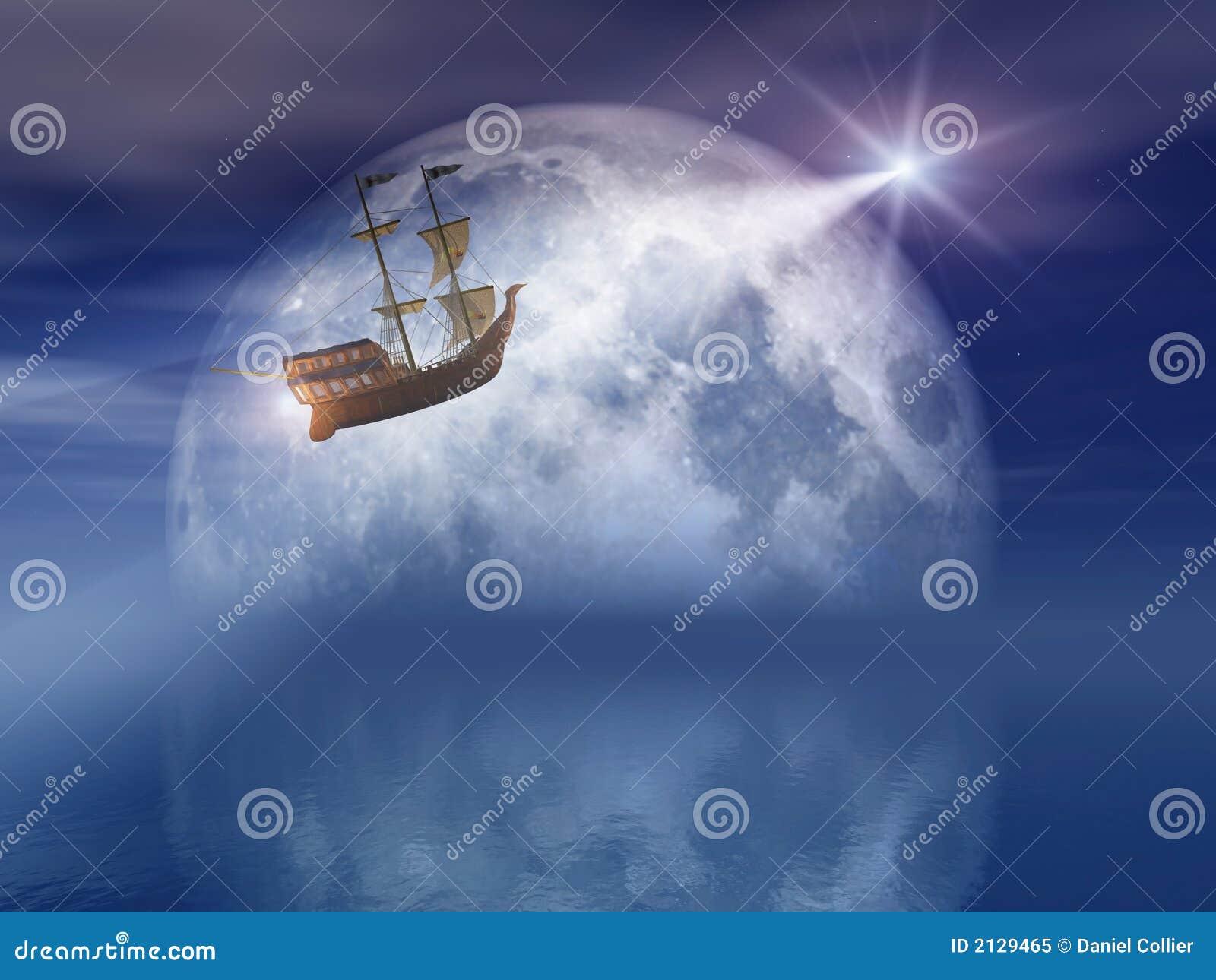 Moon and Star Light Ship