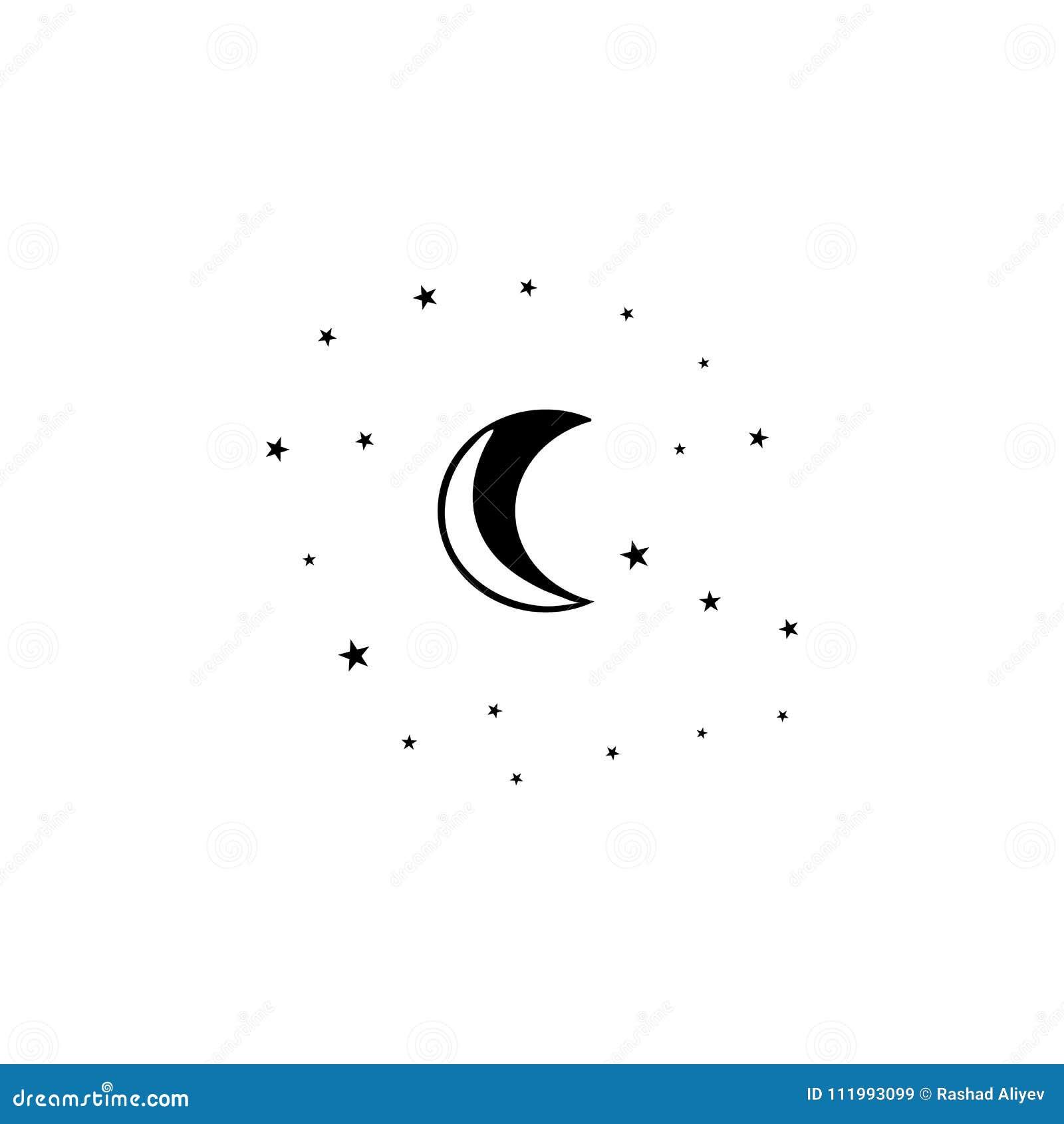 moon and stars icon. element of stars icon. premium quality