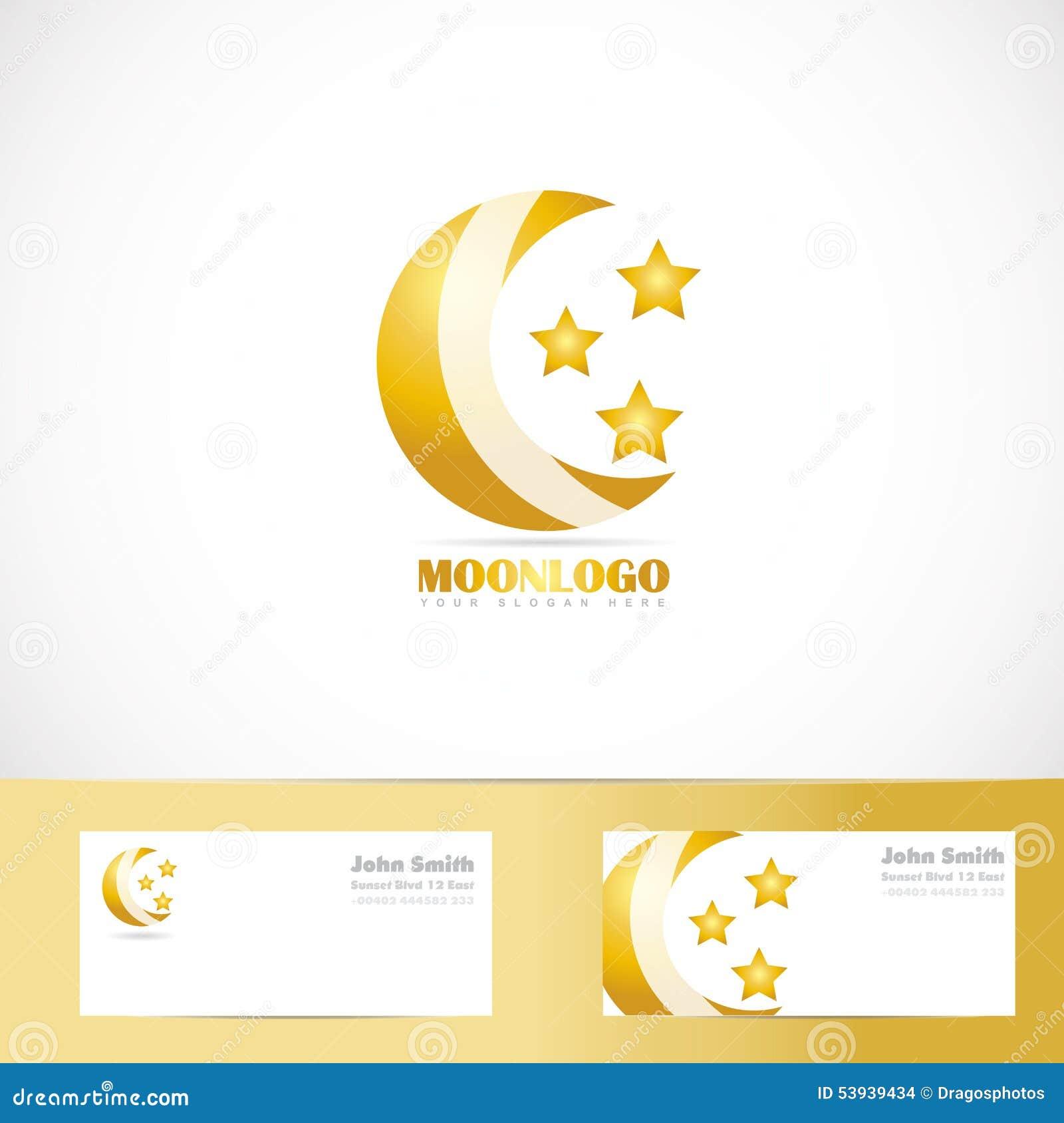 Moon stars logo design stock vector illustration of business 53939434 moon stars logo design colourmoves Images