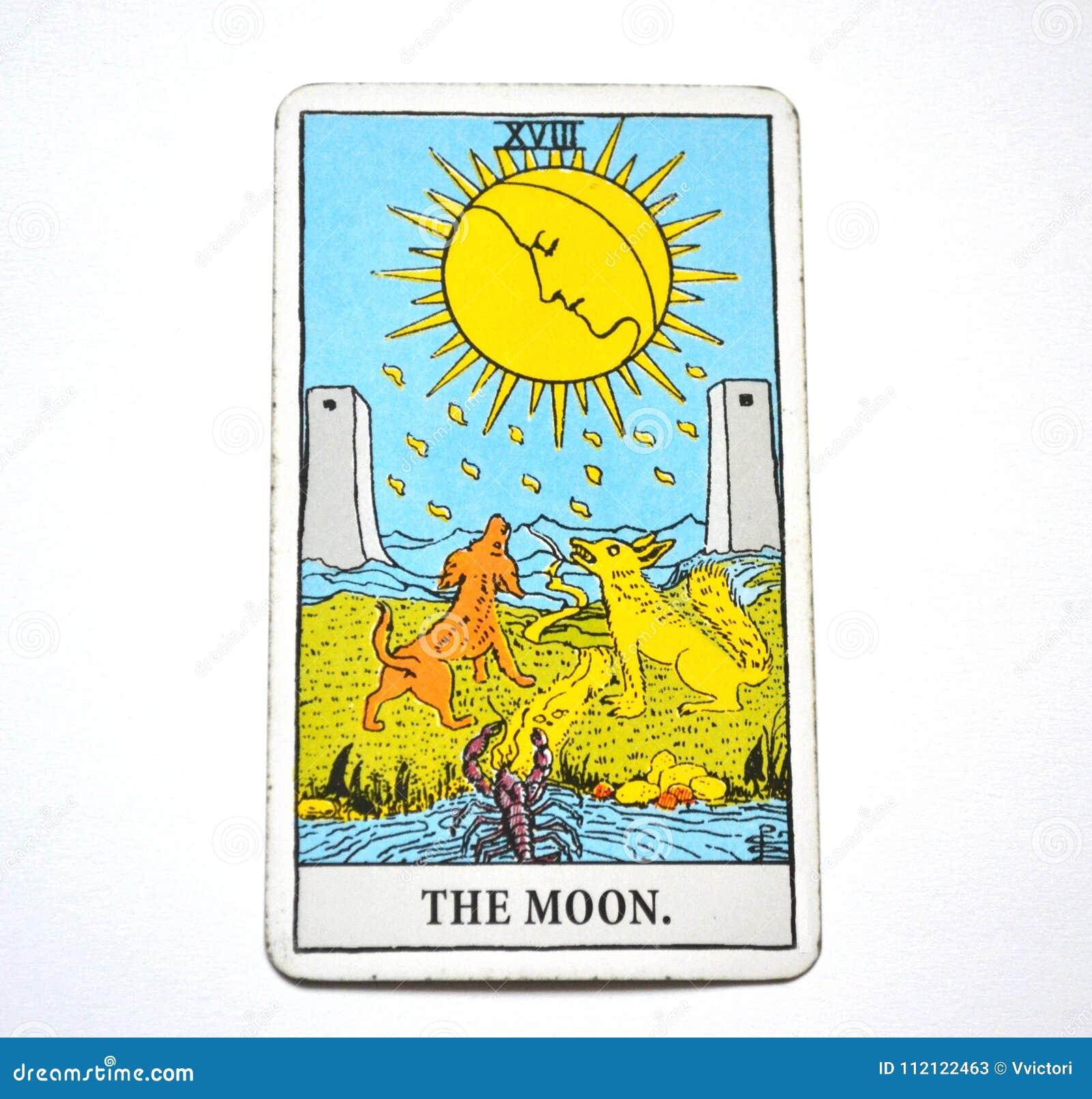 The Moon Tarot Card Dreams, nightmares, illusion, hidden things