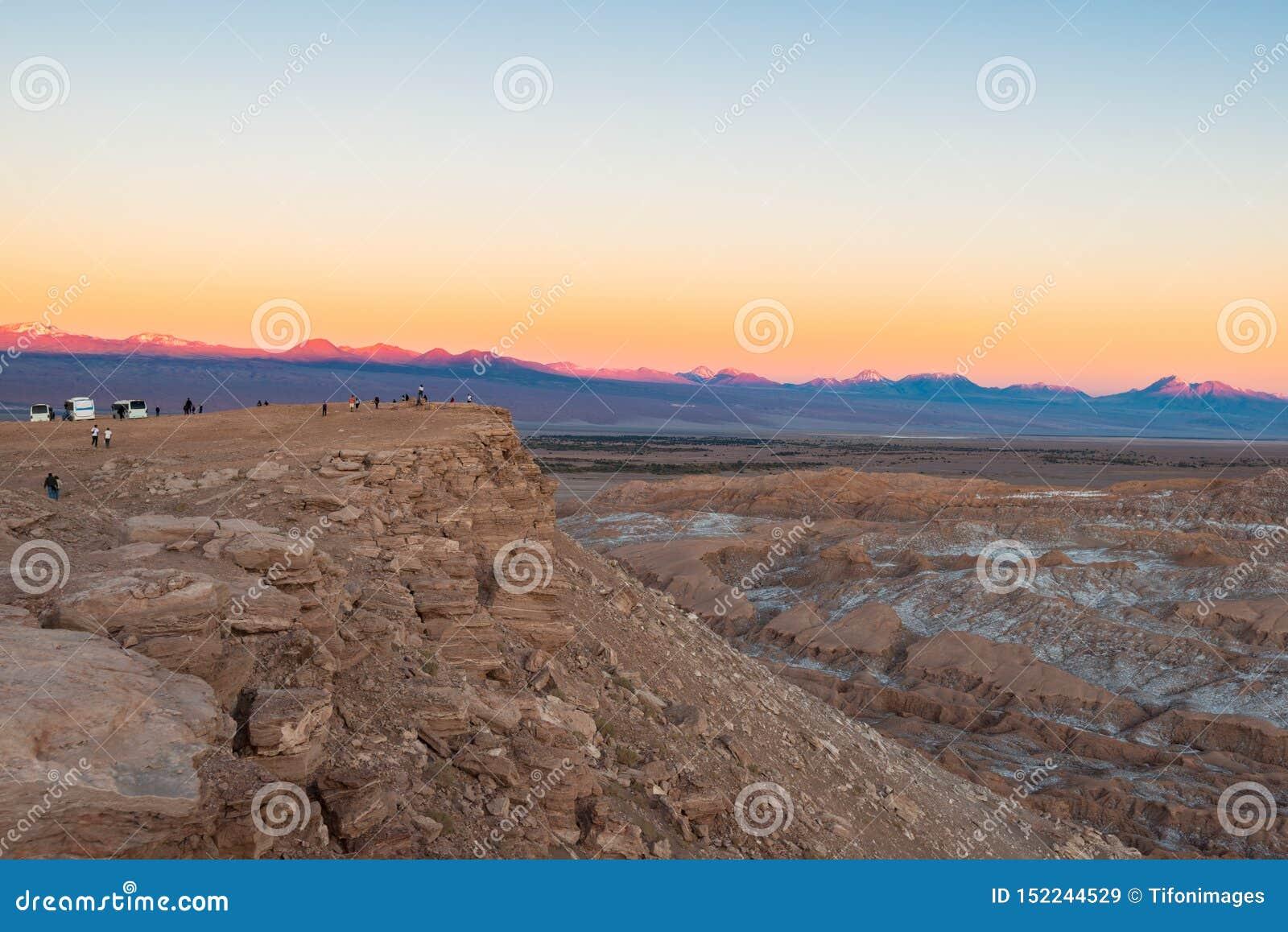 Moon Valley at the Salt Mountain Range, San Pedro de Atacama, Atacama Desert, Chile