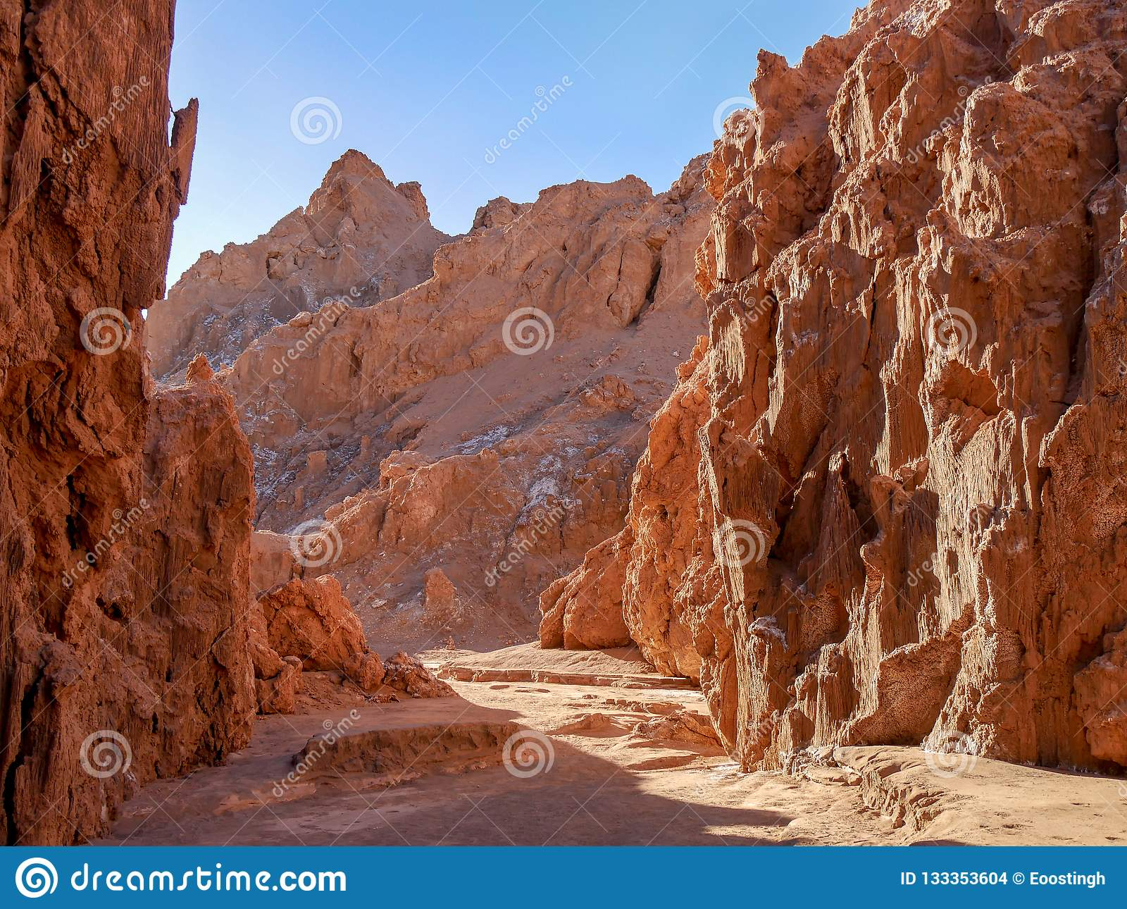 Moon Valley Valle De La Luna Chile Stock Photo Image Of Rock Stone 133353604