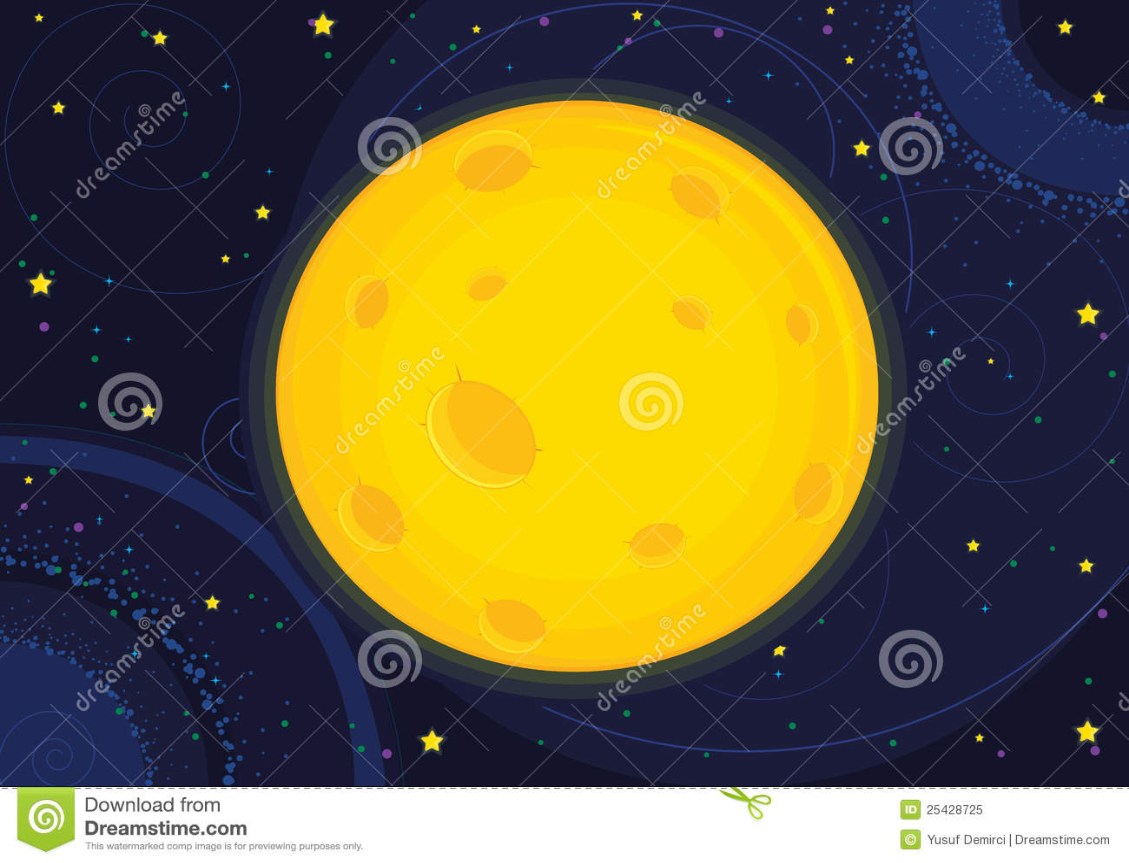 Moon Calendar Illustration : Moon vector illustration royalty free stock photo image