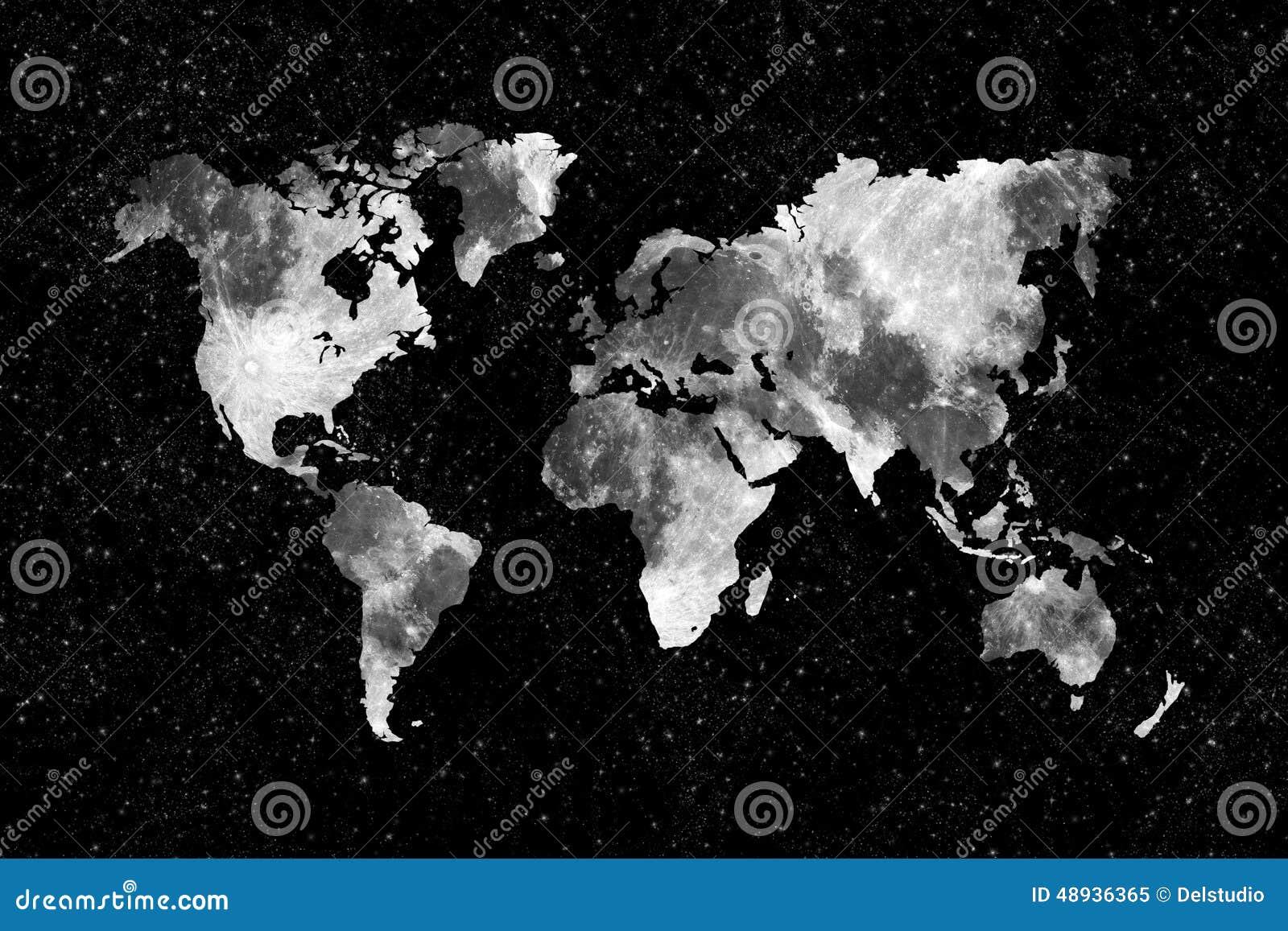 Moon world map stock image. Image of astronomy, surrealist - 48936365