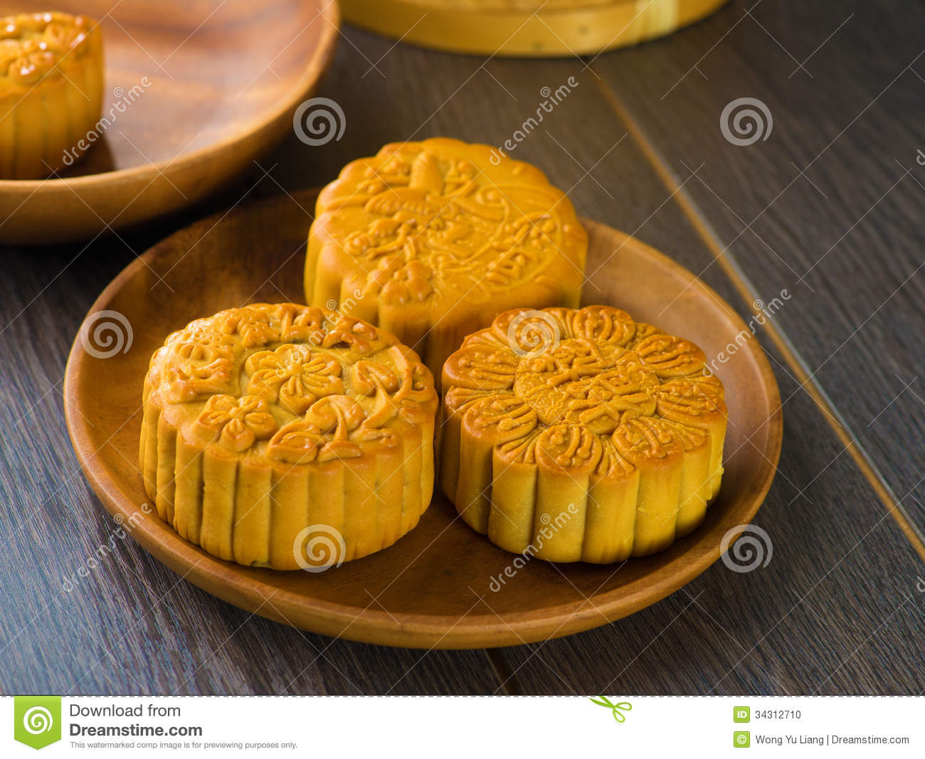 Mooncake For Chinese Mid Autumn Festival Foods The