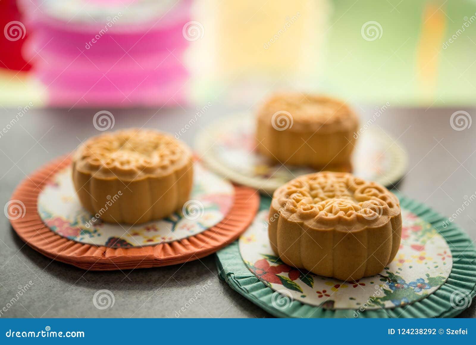 mooncakes and mid autumn lanterns stock photo image of celebration