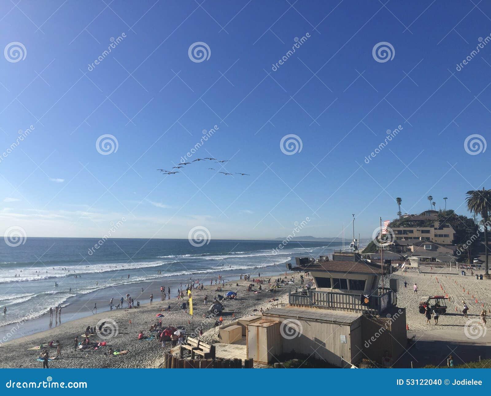 Moonlight Beach at Encinatas,, California USA