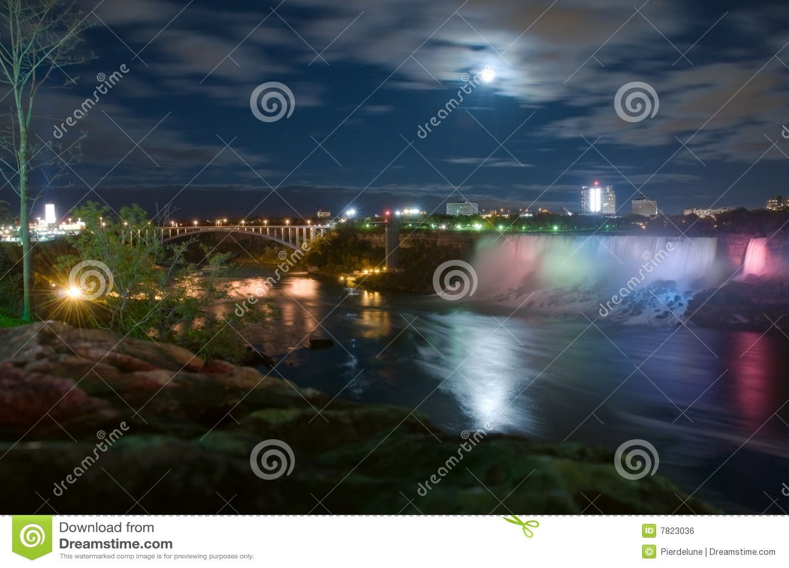 Moonlight on Niagara river