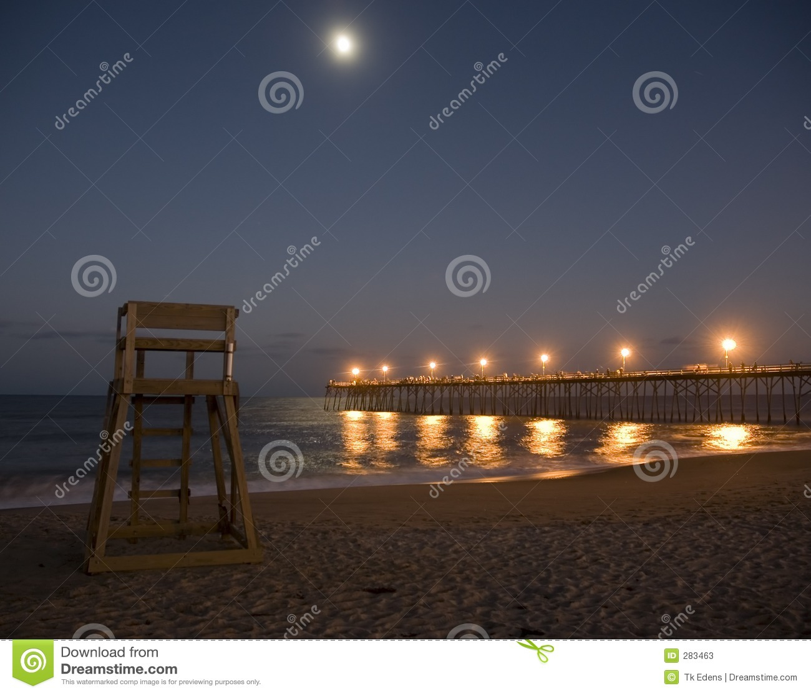 Moonrise over Beach