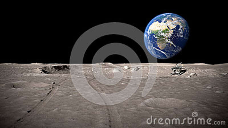lunar landscape looking at earth - photo #19