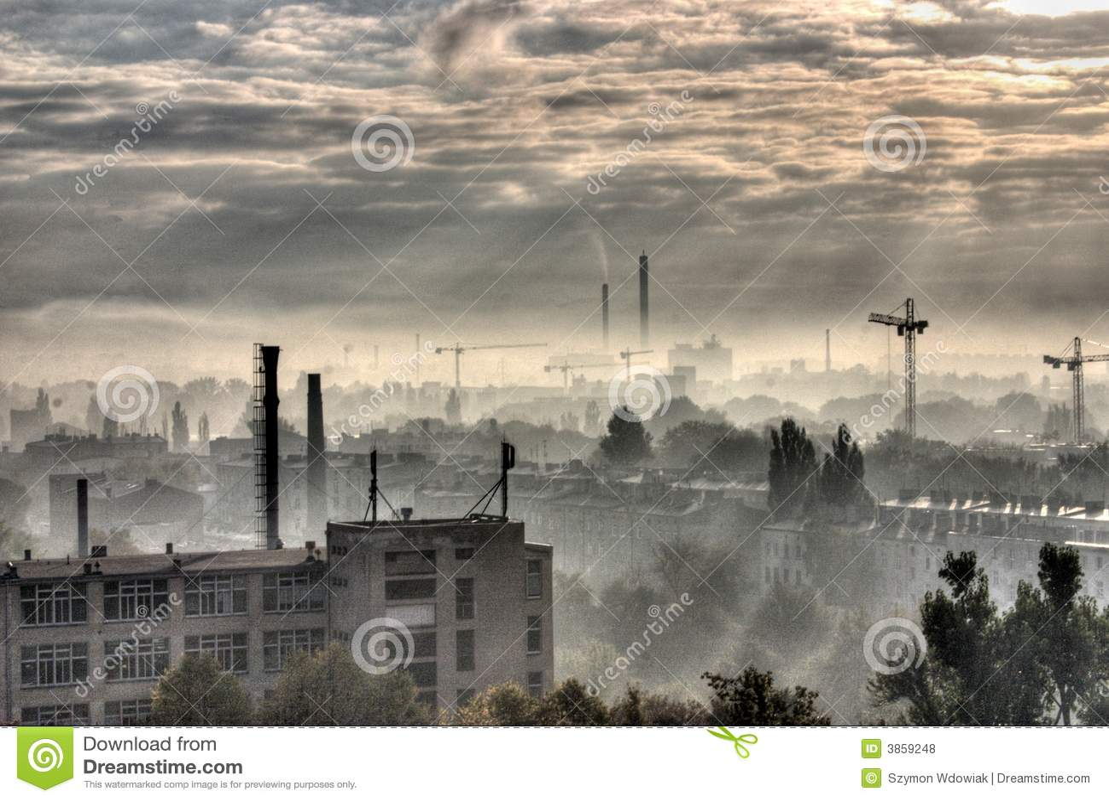 Moonscape miasta przemysłowe