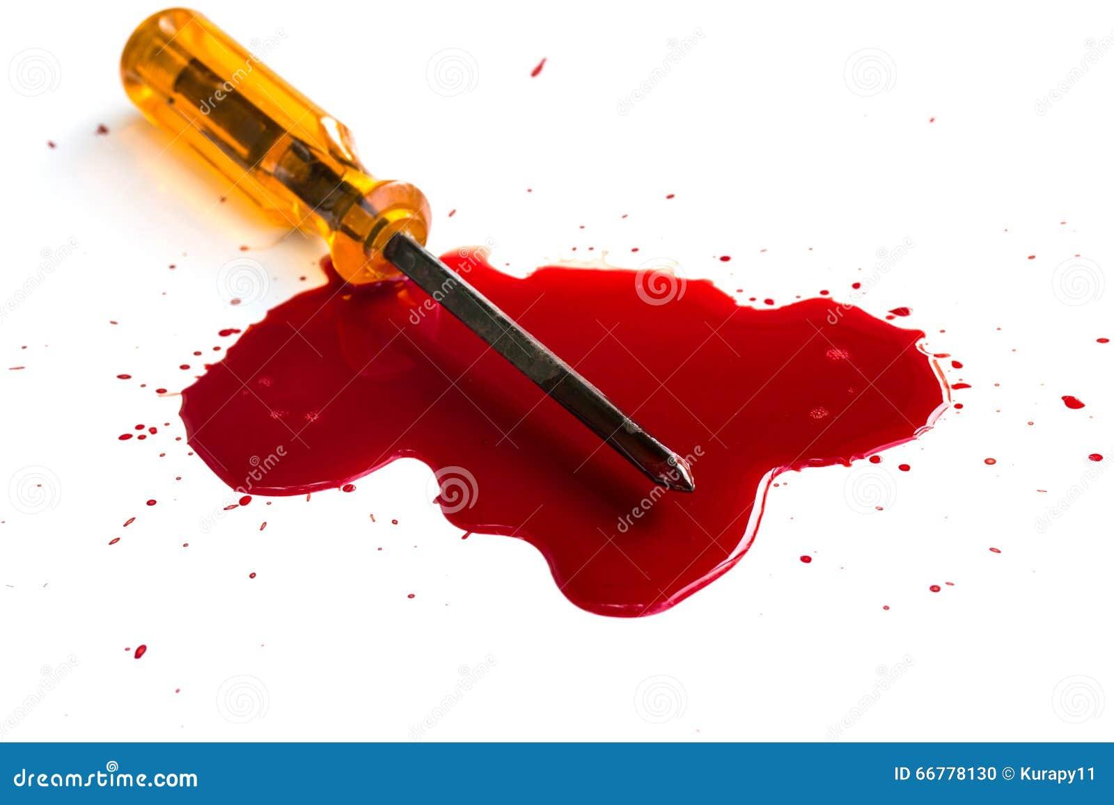 Moord Rood bloed op wit