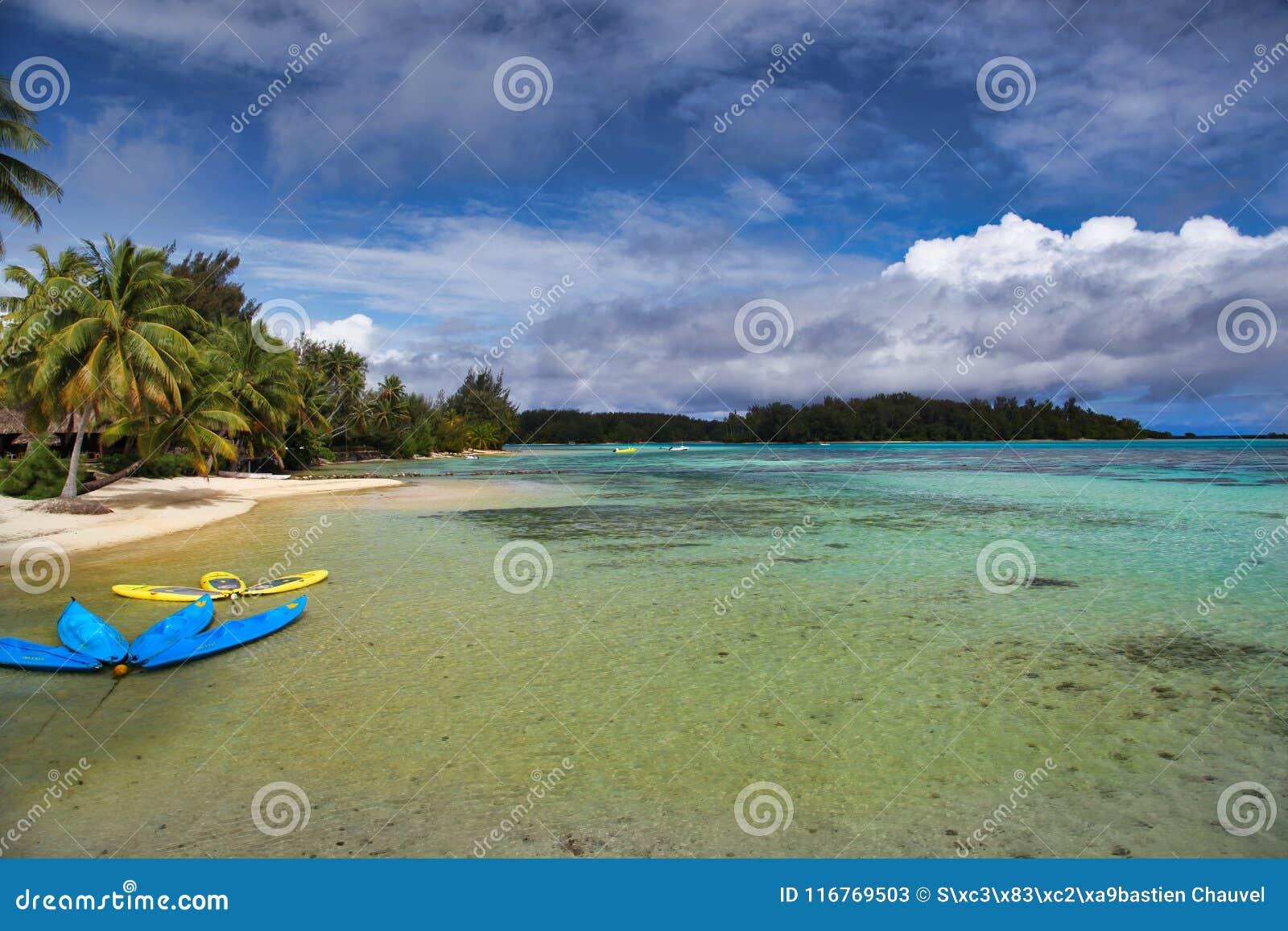 Moorea Island Tahiti French Polynesia Close To Bora Bora