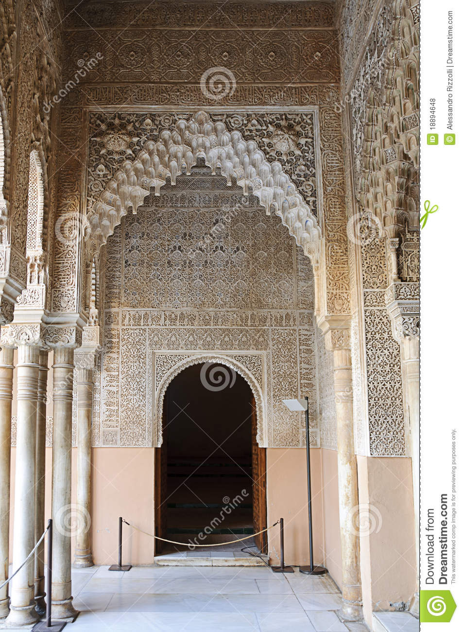 Moorish art and architecture in the alhambra royalty free for Art et architecture