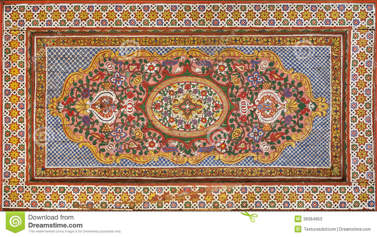 Moorish Painting On Wood Stock Illustration Illustration Of Craft