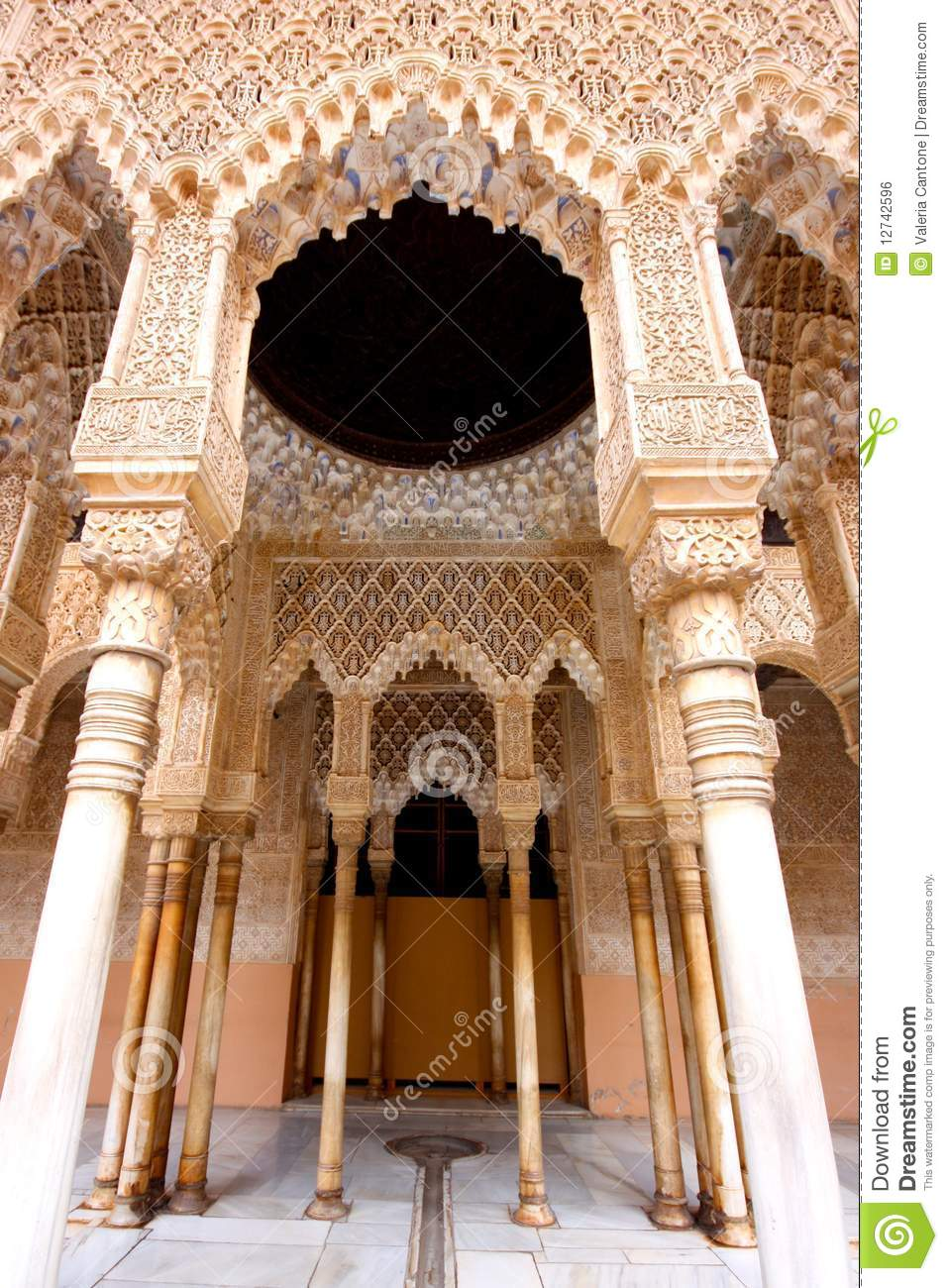 The Moorish Palace Of Alhambra In Granada Spain Royalty Free Stock Image Image 12742596
