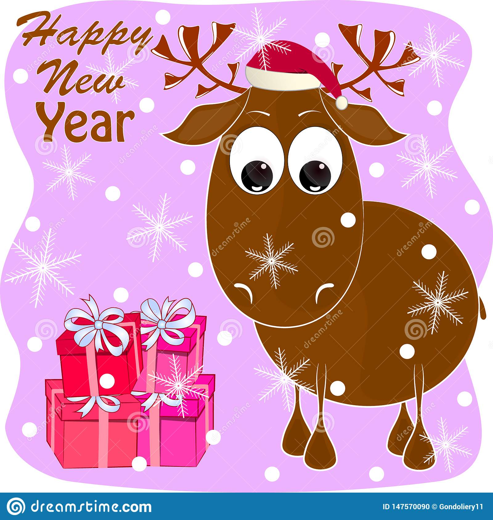 Image result for moose happy new year  clip art