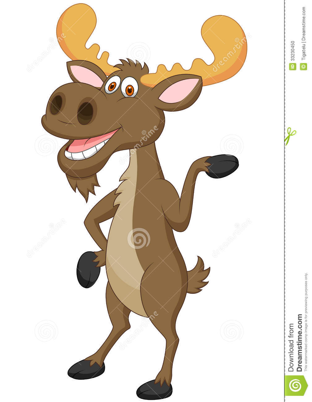 Funny Cartoon Moose