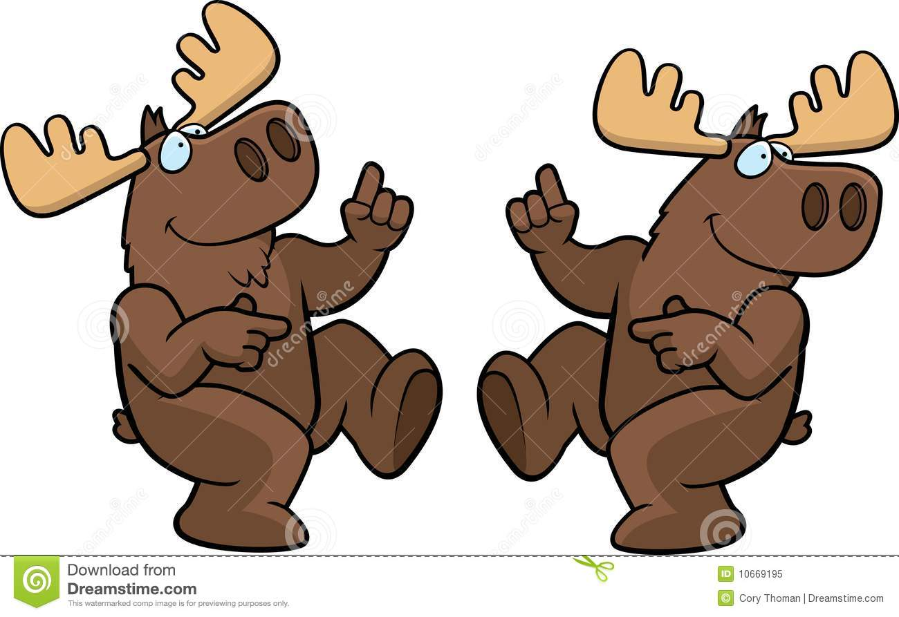 Moose Dancing Royalty Free Stock Photo - Image: 10669195