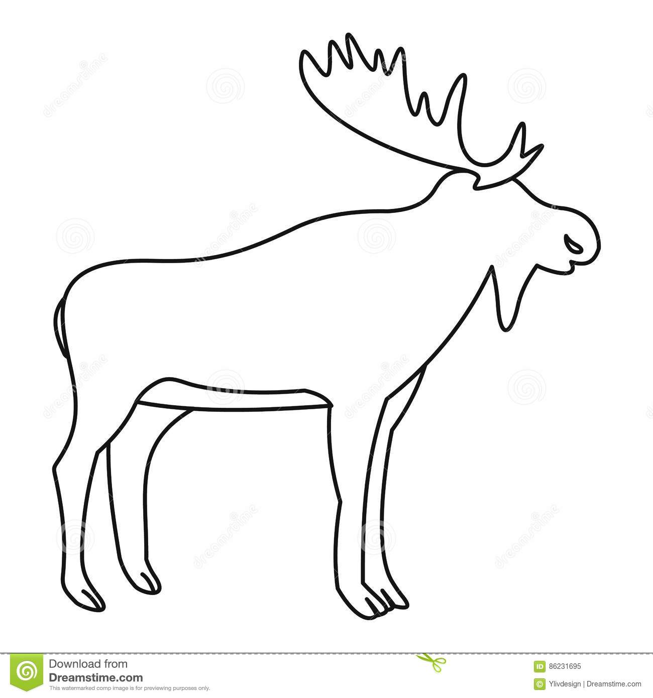 moose icon outline style