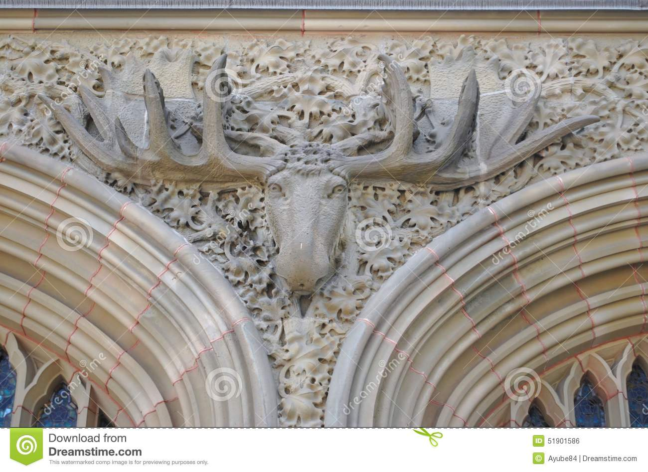 Moose relief stock photo image of antlers facade relief