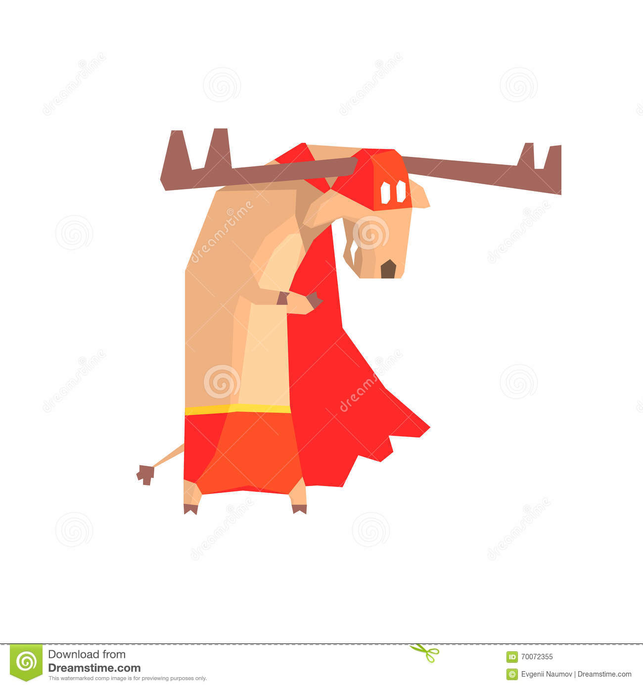 Moose Super Hero Character Stock Vector Illustration Of Forest