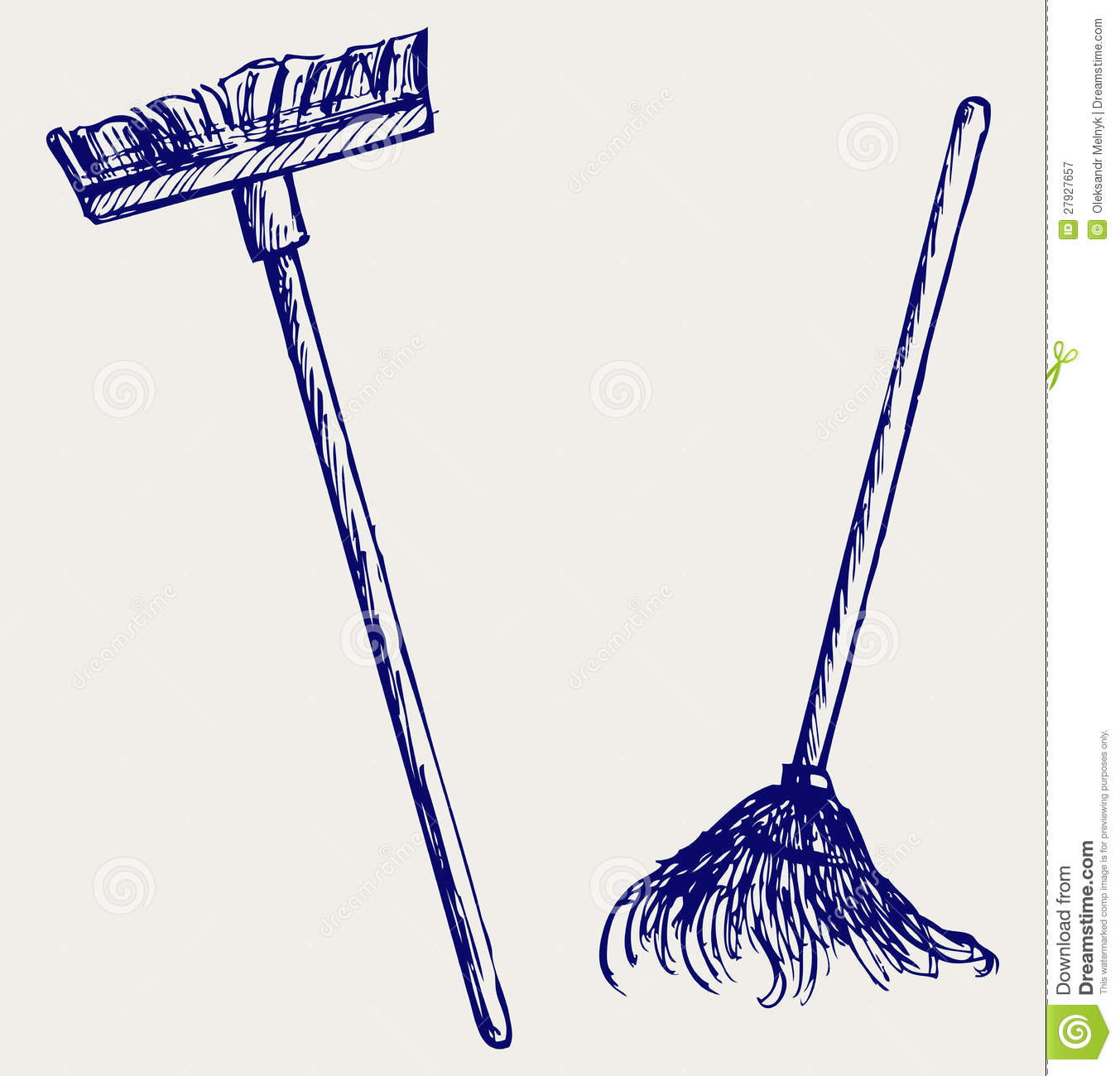 Mop And Broom Stock Vector Illustration Of Creative 27927657