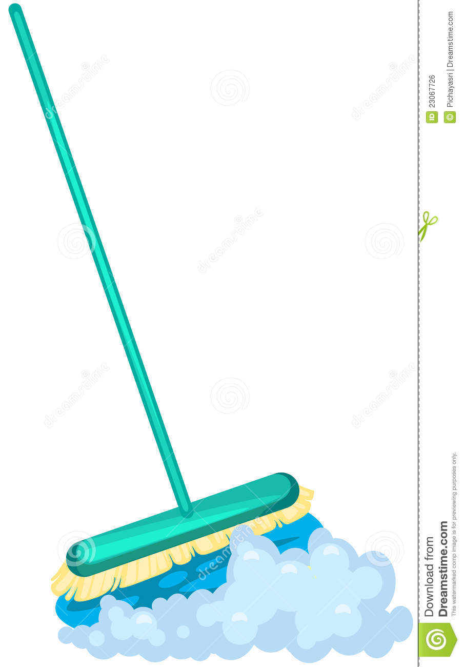 mop brush stock vector image of illustration dirt clean