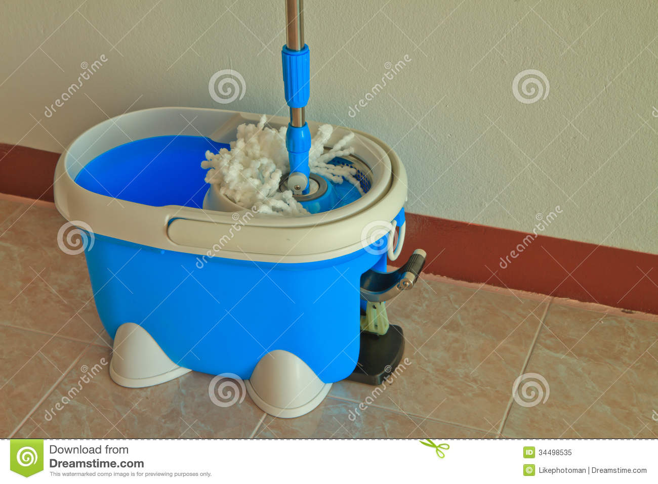 how to fix the spring on a mop bucket