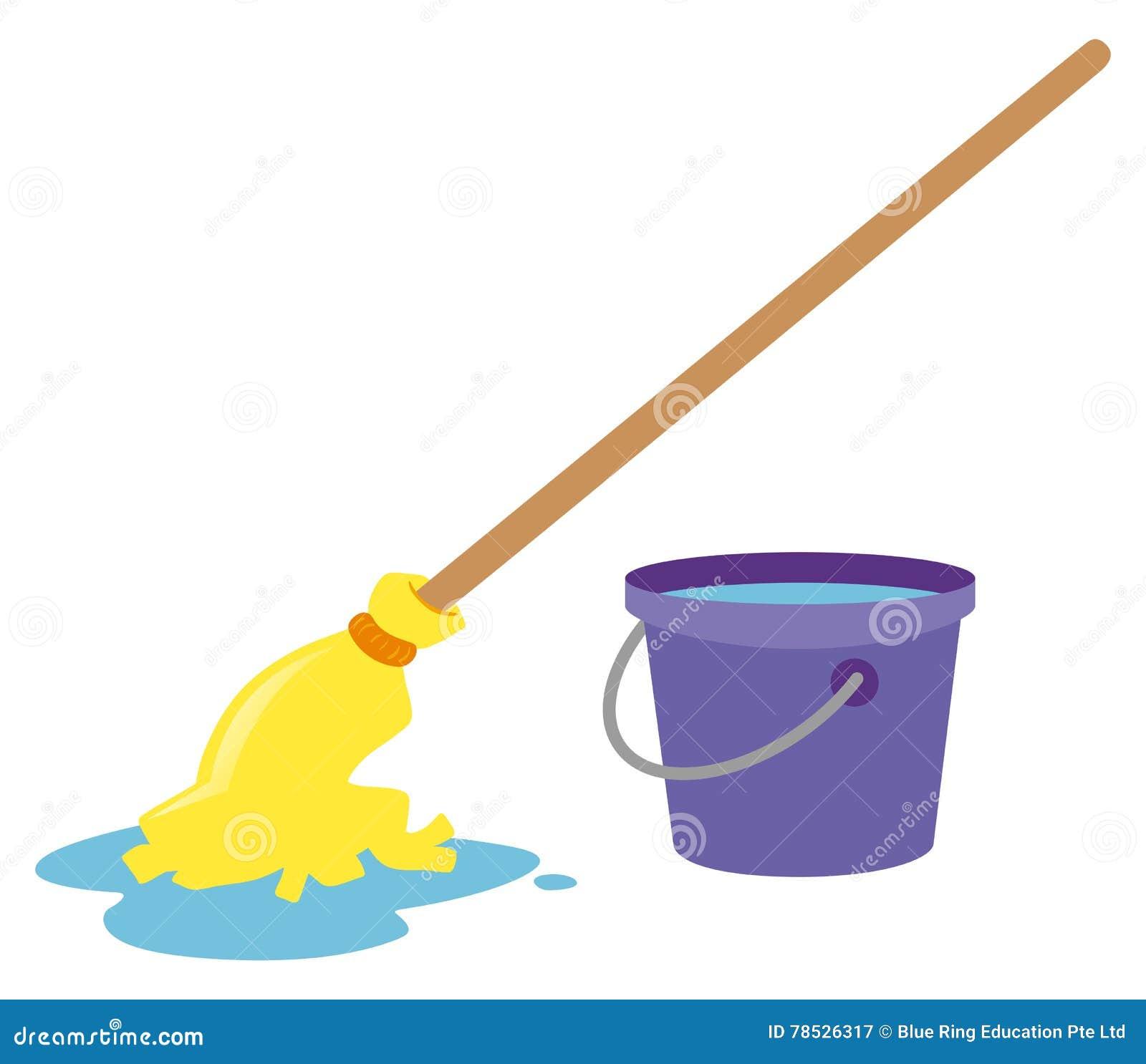 Stock Illustration Mop Water Bucket Illustration Image78526317 on 16 X 20 Floor Plans