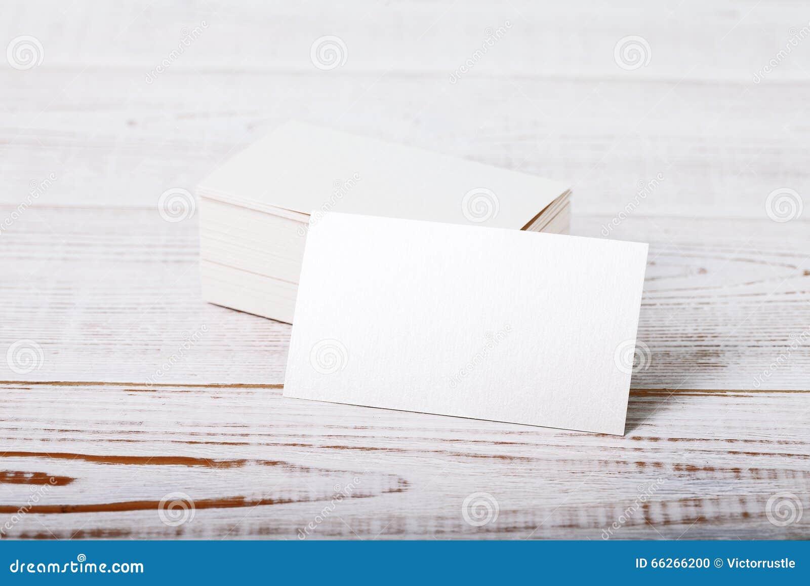 Moquerie Blanche Paisse De Carte Visite Professionnelle Papier Coton Sur La