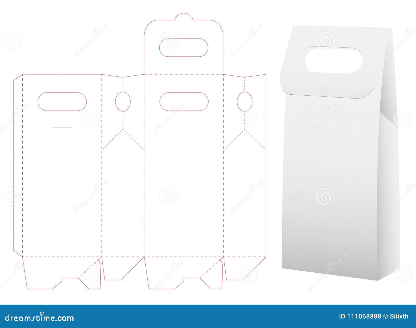 Moquerie découpée avec des matrices de sac de papier vers le haut de vecteur de calibre