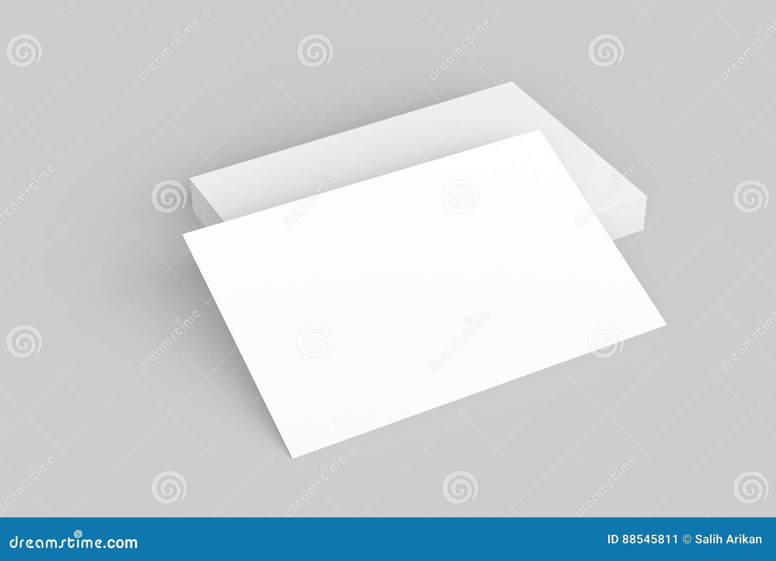 Moquerie De Carte Visite Professionnelle Sur Le Fond Blanc 3D Illustre