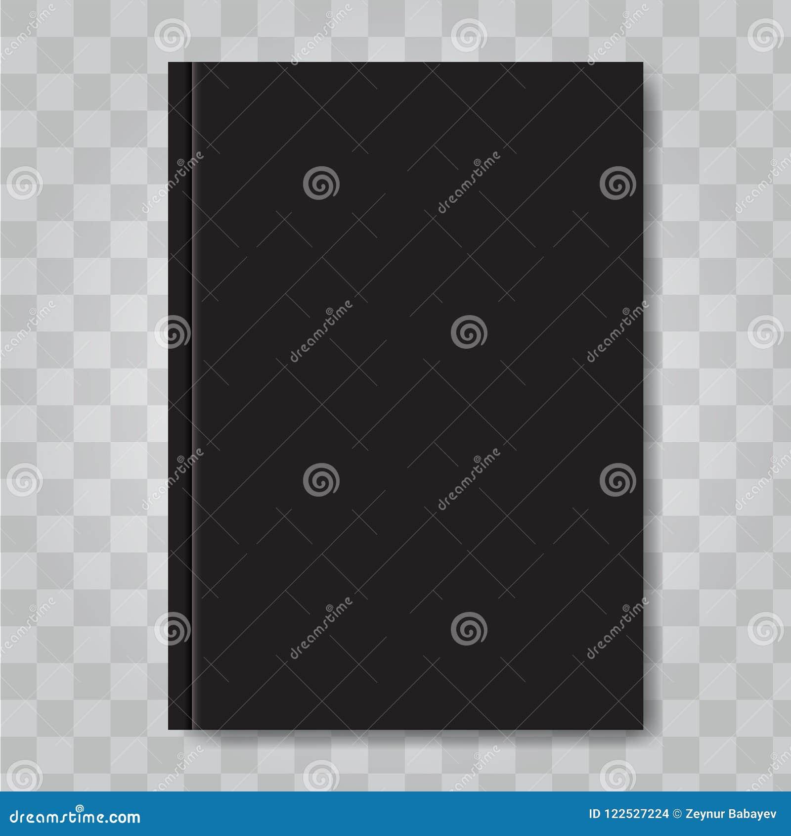 Moquerie De Couverture De Livre De Vecteur Couleur De Noir