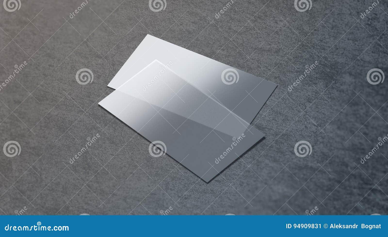Moquerie Transparente En Plastique Vide De Carte Visite Professionnelle