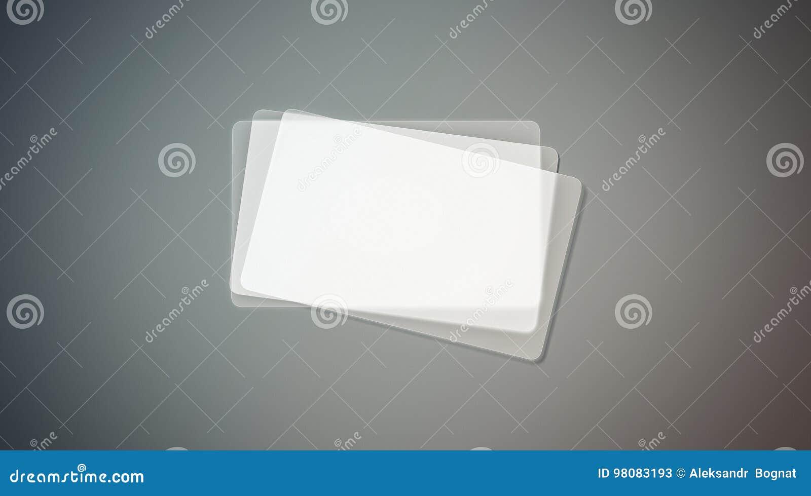 Download Moquerie Transparente En Plastique Vide De Pile Cartes Visite Professionnelle Image