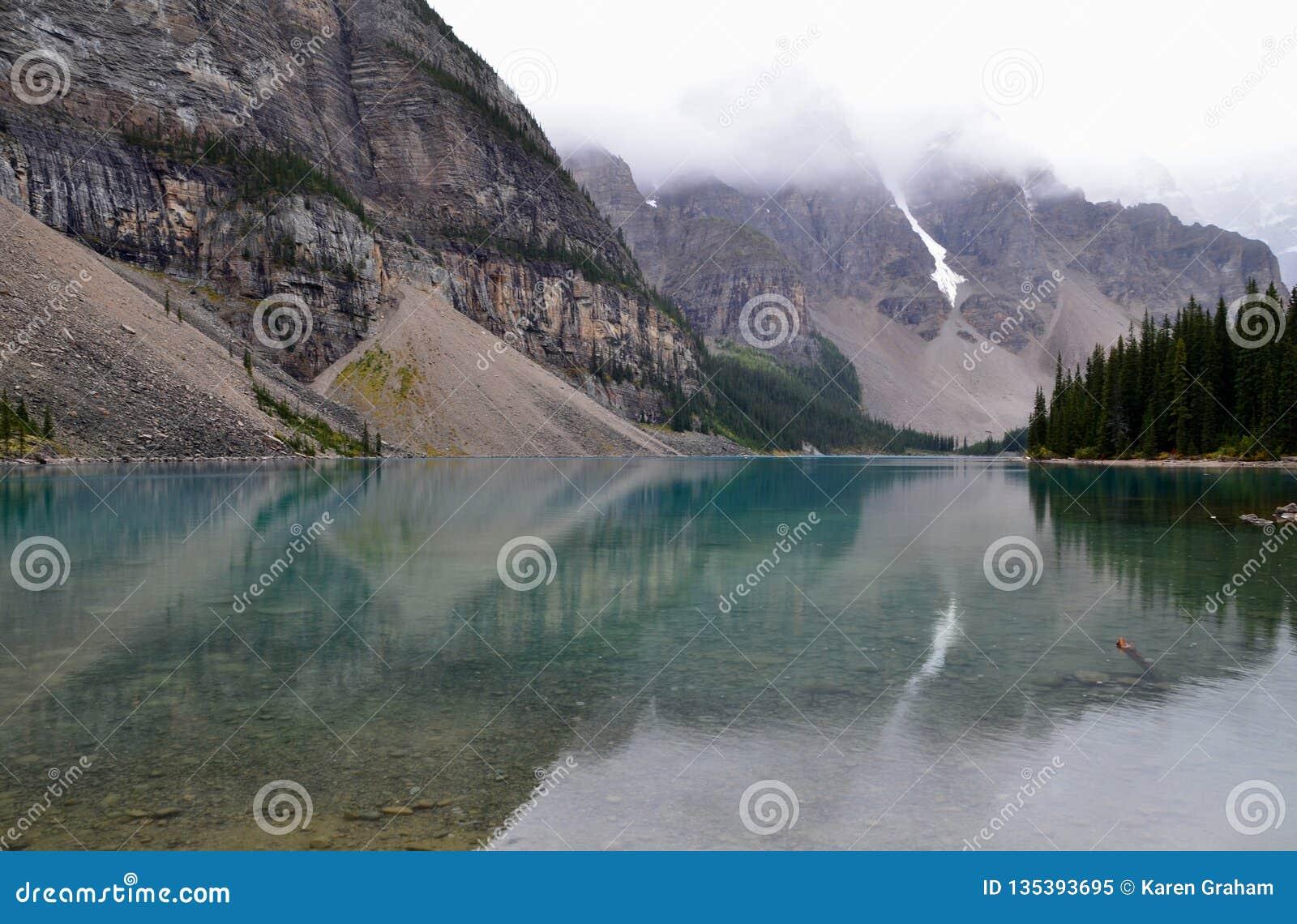 Moraine Lake In Alberta Stock Image Image Of America