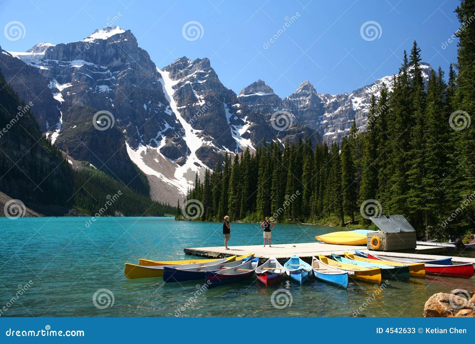 Moraine Lake Banff National Park Canada Stock Image Image Of