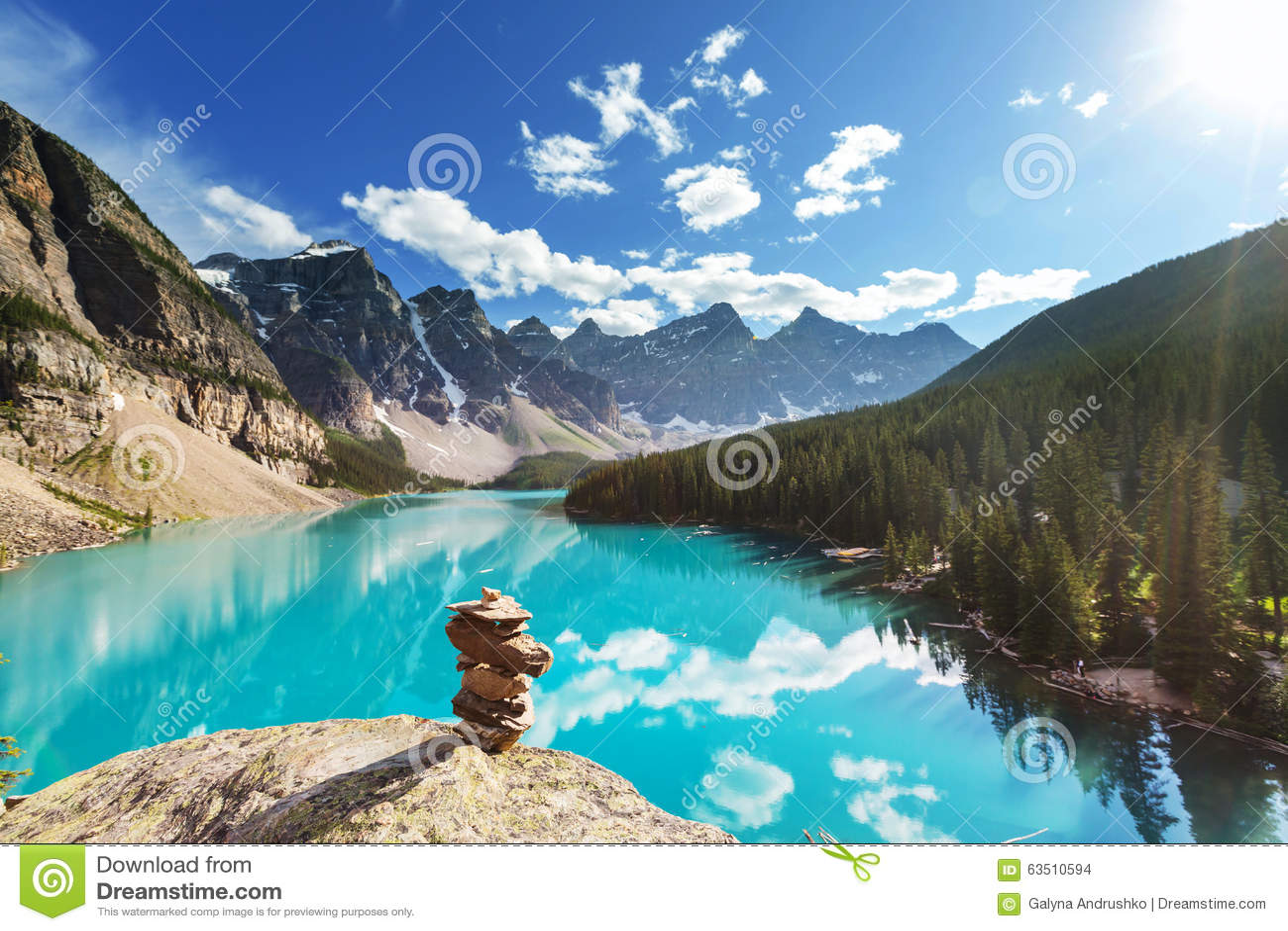 Moraine Lake Stock Photo Image Of Outdoor Canada Alberta 63510594