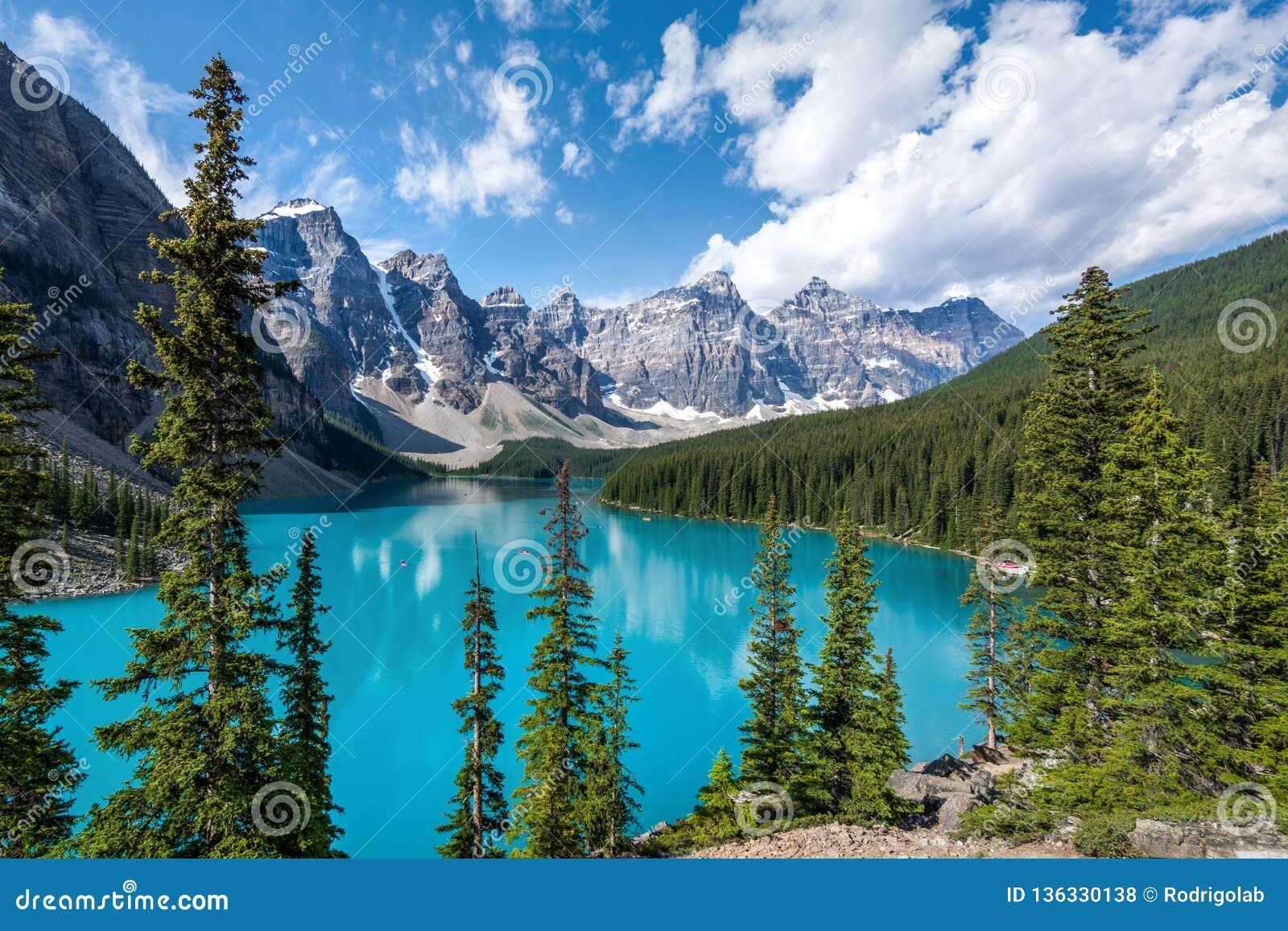 Moraine See in Nationalpark Banffs, Kanadier Rocky Mountains, Alberta, Kanada