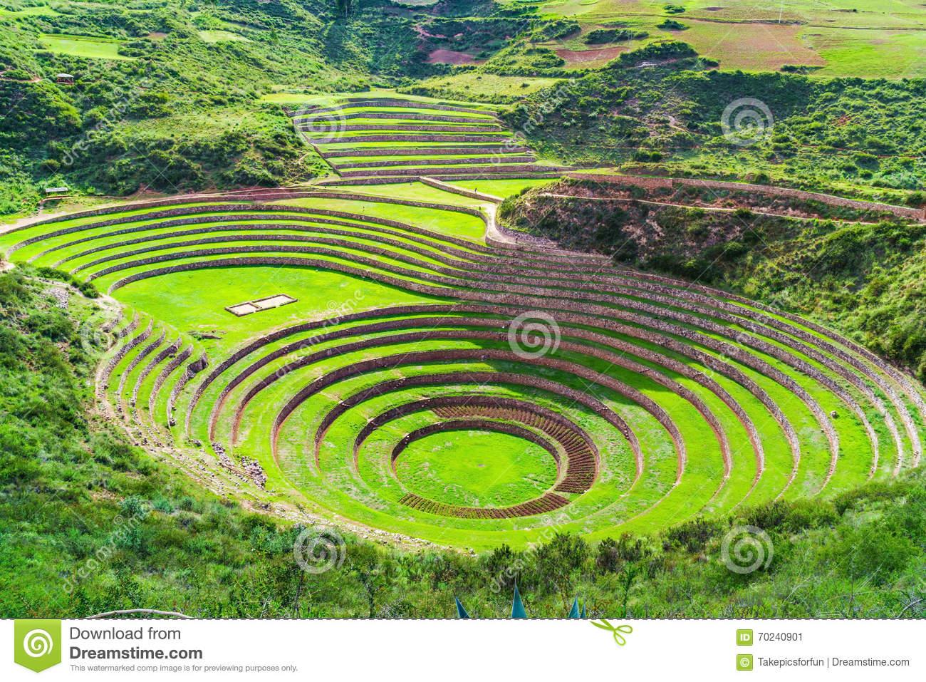 Moray, The Incan Agricultural Laboratory Stock Photo - Image: 70240901