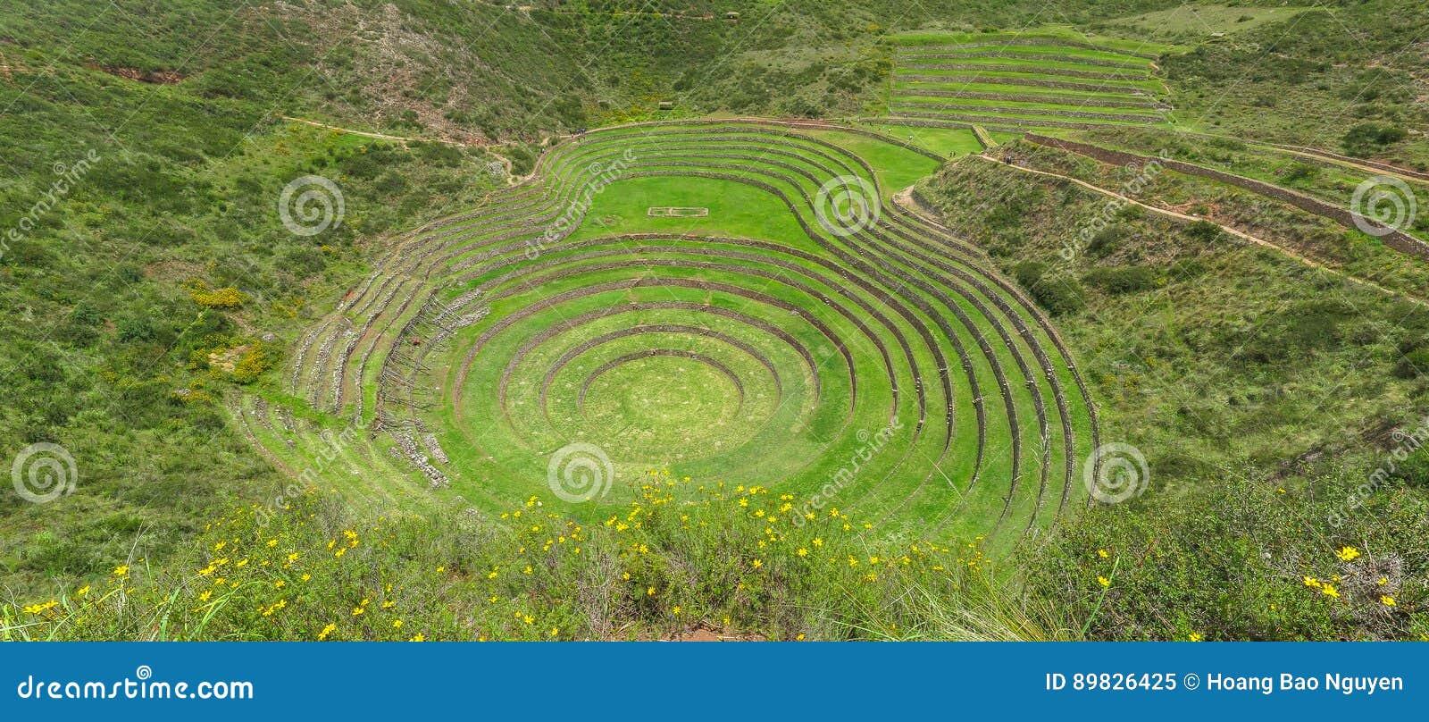 Moray Ruin in Cusco, Peru