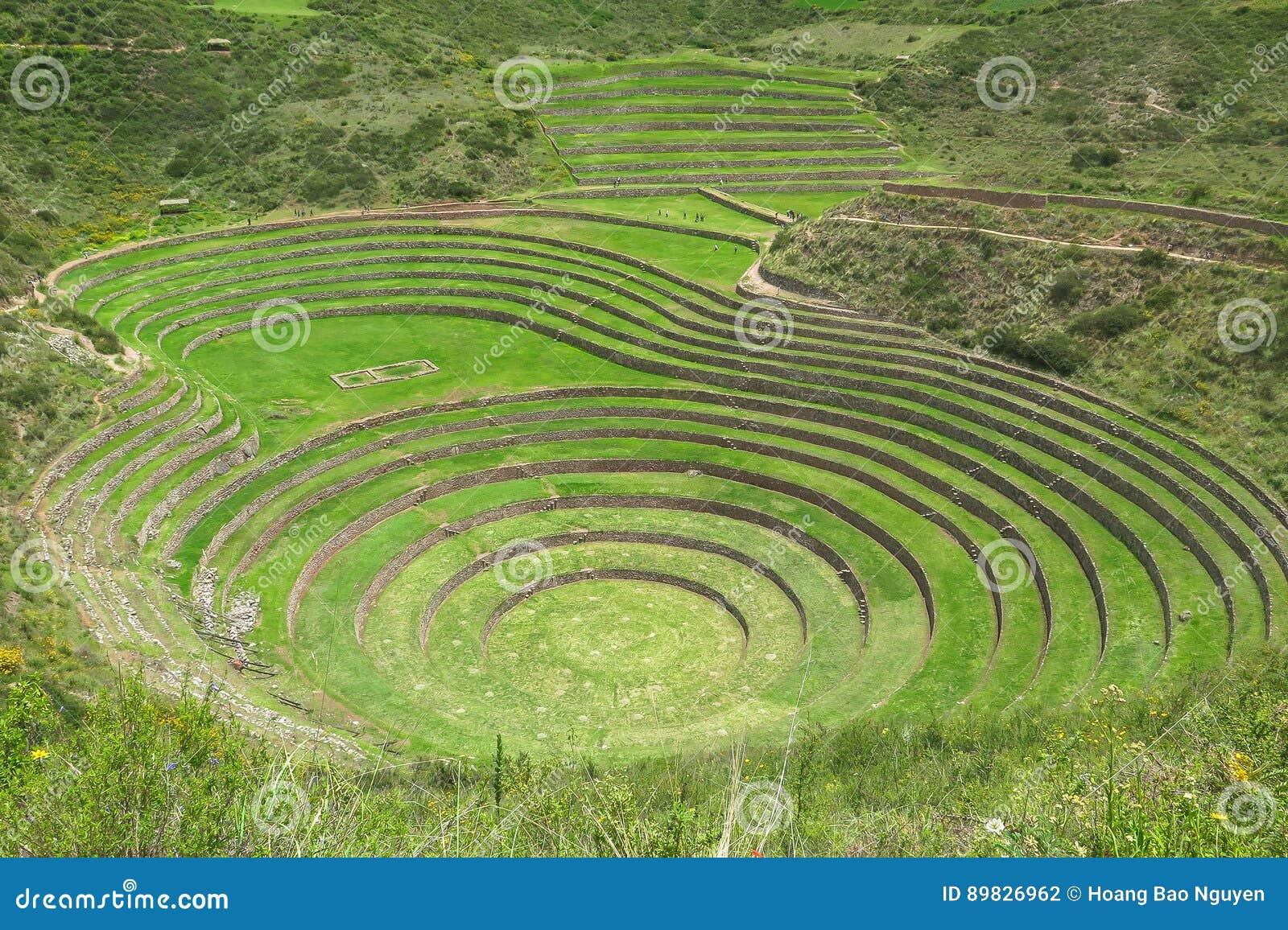Moray Ruin em Cusco, Peru
