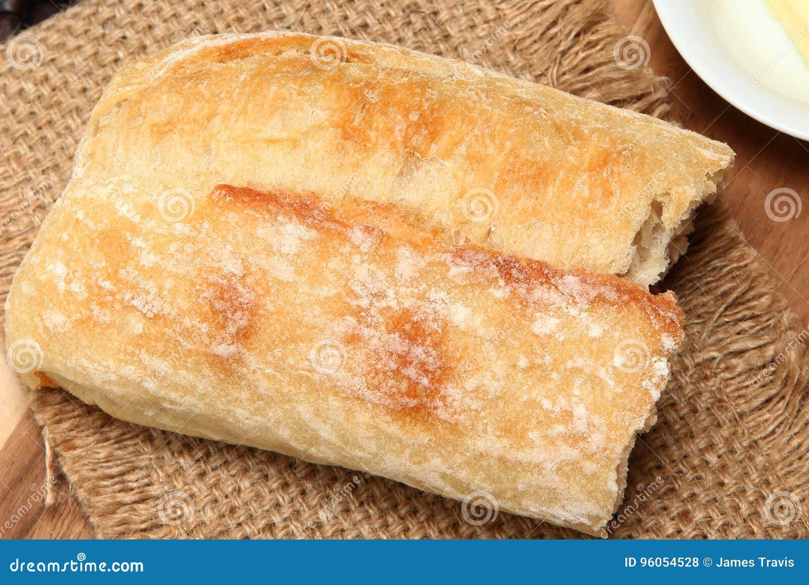 Morceau de pain de baguette