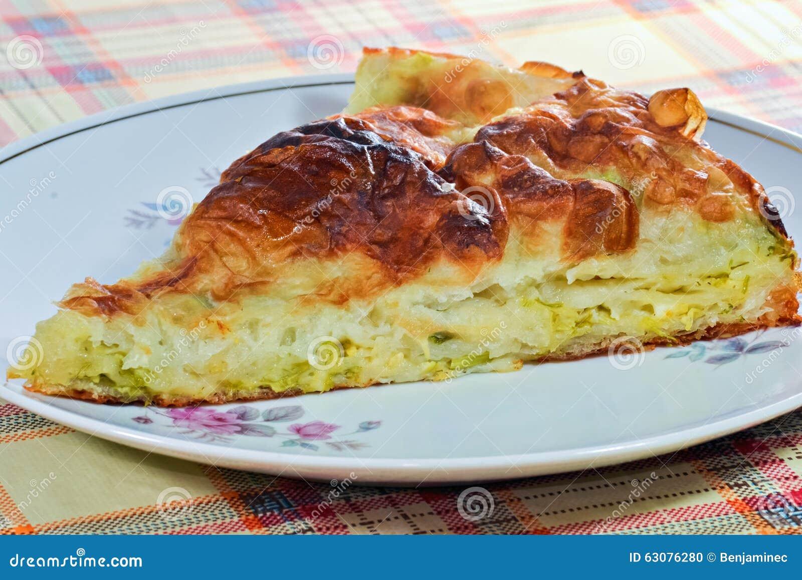 Download Morceau de tarte photo stock. Image du croûte, closeup - 63076280