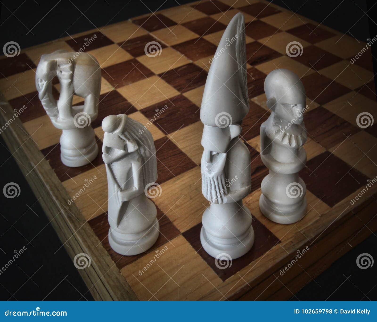 Morceaux orientaux de jeu d échecs